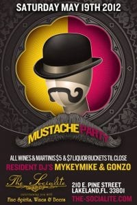 Mustache Party at the Socialite | 863area.com