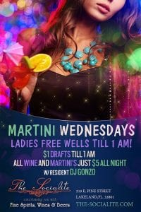 Socialite Wednesdays Ladies Drink Free