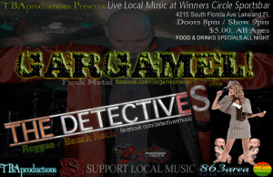 Live music Sat. Aug 25th at Winners Circle w/ the Detectives & Gargamel! | 863area.com