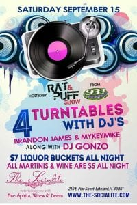 4 turntables party at The Socialite | 863area.com