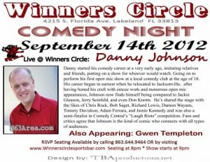 comedy danny johnson at winners Circle | 863area.com