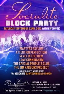 Socialite Block Party Sat. Sept 22nd w/ Live Music by TBAproductions | 863area.com