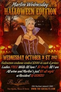 Martini Wednesday Halloween Edition at The Socialite