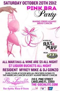 Socialite Pink Bra Party with Rat & Puff from 93.3FLZ   863area.com