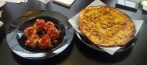The Socialite featured lunch BBQ Pizza & Bruschetta