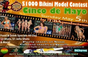 TBAproductions 4th annual Cinco de Mayo Bikini Model Contest - Sun. May 5th