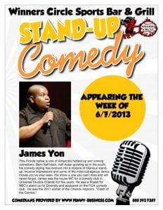 Winners Circle Sports Bar & Grill Comedy NIght w/ James Yon