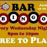 Wc Bar Bingo Every Wednesday 8pm-10pm