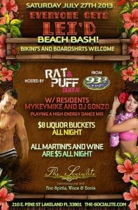 Socialite Bikini & Board Shorts Beach Bash - Sat July 27th
