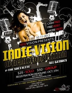 The Indie-Vision: Open Mic Competition + Costume Party @ The Socialite