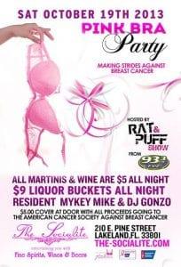 Socialite pink bra party