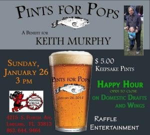 Pints for Pops - Benefit for Keith Murphy - Sunday Jan. 26th