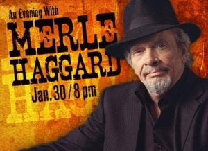 An evening with Merle Haggard at Lakeland Center Youkey Theatre