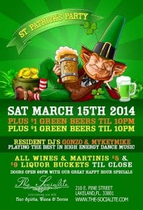 St. Patty's Day Pre Bash at The Socialite - Saturday March 15th | 863area.com