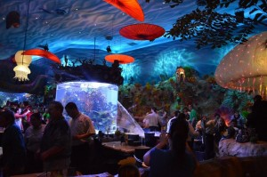 Fish Tank ruptures at Downtown Disney T-Rex Cage