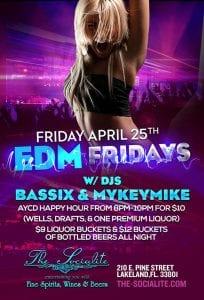"""EDM"" EDITION - w/ Dj's Bassix & Mykeymike at The Socialite - Fri. April 25th"