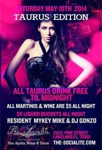 Socialite Taurus Party