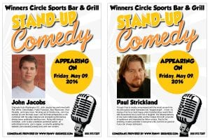 Friday Night Comedy with John Jacobs & Paul Strickland - 4/9