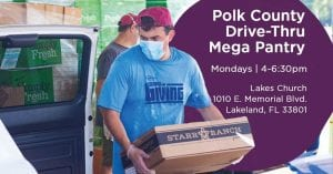Mega Pantry, lakeland, Food assistance, Lakes Church, Charity, Family friendly