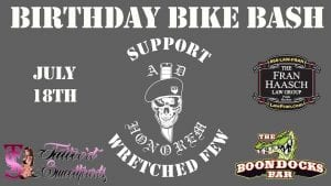 Lakeland, Boondocks Bar, Bike Wash, Food trucks, Vendors, Live music, Raffles, Drink Specials, Entertainment