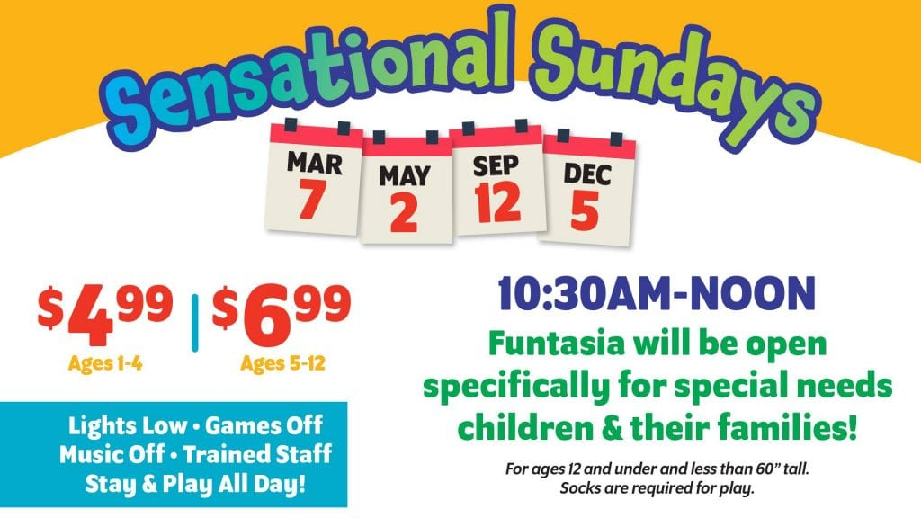 Lakeland, Family Fun Center, Special Needs, Free, Kid Friendly, Sunday