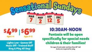 Lakeland, Family Fun Center, Special Needs, Free, Kid Friendly, Sunday